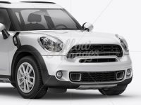 Mini Cooper Countryman Mockup Front 3/4 View