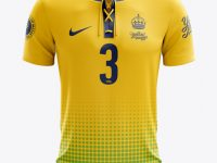 Lace-Up Soccer T-Shirt Mockup - Front View