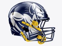 American Football Helmet Mockup - Right View