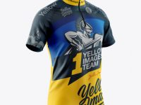 Men's Cycling Jersey Mockup - Half Side View