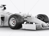 Formula One Car Mockup Front 3/4 View