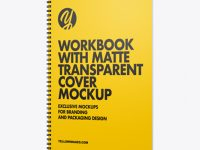 Workbook with Matte Transparent Cover Mockup