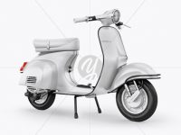 Vespa Scooter Mockup - Half Side View
