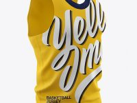 Basketball Jersey Mockup - Half Side View
