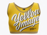 Women's Fitness Top Mockup - Front View