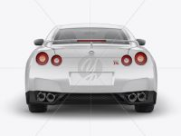 Nissan GTR Mockup - Back view