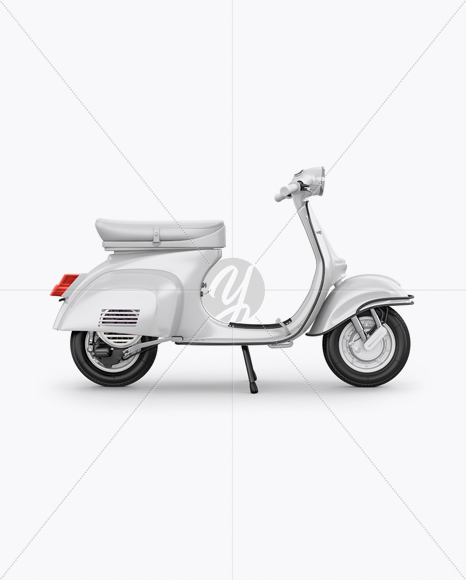 Vespa Scooter Mockup - Right Side View