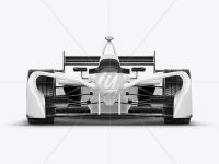 Formula E Racing Car 2016 Mockup - Front View