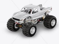 Monster Truck Mockup - Half Side View