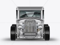 Metallic Hot Rod Mockup - Front View