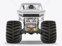 Monster Truck Mockup - Front View
