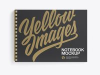 Notebook With Ring Binger Mockup - Top View