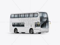 London Bus Enviro 400 Mockup - Right Half Side View