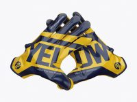 American Football Gloves mockup (Crossed)
