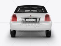 Lincoln Town Car Limousine Mockup - Back View
