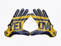 American Football Gloves mockup (Touched)