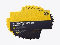 Business Cards Mockup - Top View