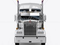 Kenworth Refrigerator Truck HQ Mockup - Front View