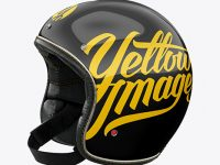 Vintage Motorcycle Helmet Mockup - Left Half Side View