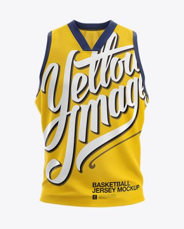 Basketball Jersey with V-Neck Mockup - Front View