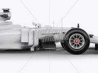 2017 Formula 1 Car Mockup - Right View