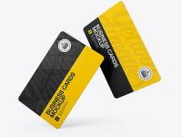 Two Plastic Business Cards Mockup