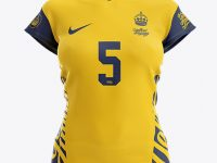Women's Volleyball Jersey Mockup - Front View