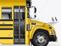 School Bus Mockup - Right Side View