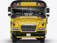 School Bus Mockup - Front View