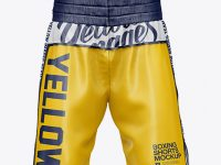 Two Panel Boxing Shorts Mockup - Front View