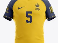 Men's Rugby Jersey Mockup - Front View
