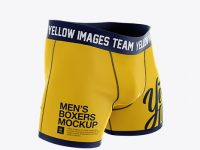Boxer Briefs Mockup - Half Side View