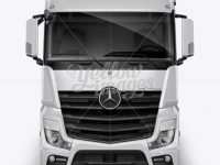 Mercedes Trailer Mockup -  Front View