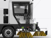 Street Sweeping Machine Right view Mockup