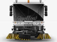 Street Sweeping Machine Mockup - Front view