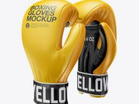 Boxing Gloves Mockup
