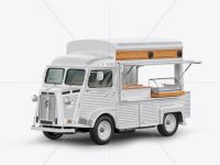Citroen Hy Van Food Truck Mockup - Half Side View