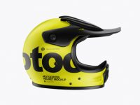 Motocross Helmet Mockup - Side View