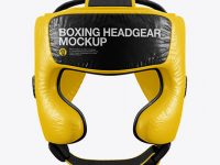 Boxing Headgear Mockup - Front View