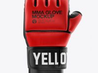 MMA Glove Mockup - Front View