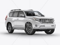 Land Cruiser Prado Mockup - Half Side View