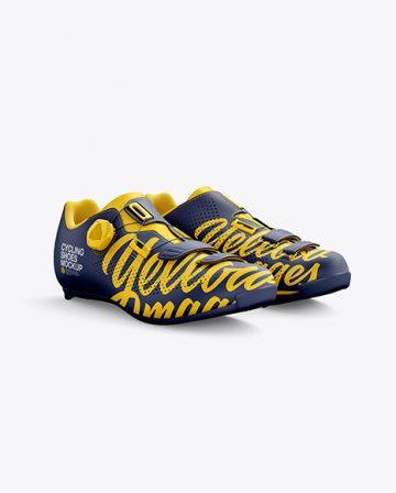 Road Cycling Shoes mockup (Half Side View)