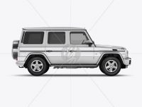 Mercedes Benz G class Mockup - Side View