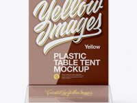 Plastic Table Tent Mockup - Front View
