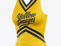 Cheerleader Top Mockup - Half Side View