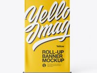 Roll-up Banner Mockup - Front View