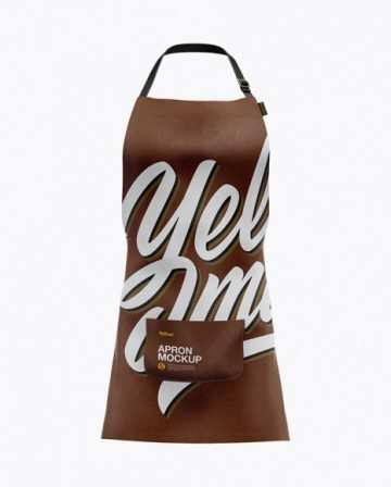Leather Apron Mockup - Front View
