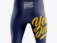 Men's Cycling Shorts v3 mockup (Back View)
