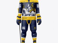 Men's Full Ice Hockey Kit mockup (Front View)