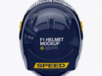 F1 Helmet Mockup - Top View